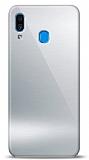 Eiroo Samsung Galaxy A20 / A30 Silikon Kenarlı Aynalı Silver Kılıf