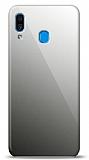 Eiroo Samsung Galaxy A20 / A30 Silikon Kenarlı Aynalı Siyah Kılıf