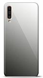 Eiroo Samsung Galaxy A50 Silikon Kenarlı Aynalı Siyah Kılıf