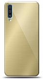 Eiroo Samsung Galaxy A70 Silikon Kenarlı Aynalı Gold Kılıf