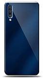 Eiroo Samsung Galaxy A70 Silikon Kenarlı Aynalı Lacivert Kılıf