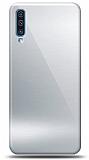 Eiroo Samsung Galaxy A70 Silikon Kenarlı Aynalı Silver Kılıf