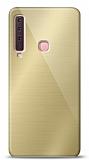 Eiroo Samsung Galaxy A9 2018 Silikon Kenarlı Aynalı Gold Kılıf