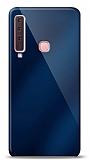 Eiroo Samsung Galaxy A9 2018 Silikon Kenarlı Aynalı Lacivert Kılıf