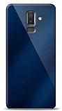 Eiroo Samsung Galaxy J8 Silikon Kenarlı Aynalı Lacivert Kılıf