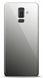 Eiroo Samsung Galaxy J8 Silikon Kenarlı Aynalı Siyah Kılıf