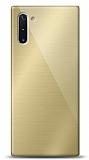 Eiroo Samsung Galaxy Note 10 Silikon Kenarlı Aynalı Gold Kılıf