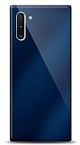 Eiroo Samsung Galaxy Note 10 Silikon Kenarlı Aynalı Lacivert Kılıf
