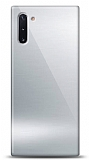 Eiroo Samsung Galaxy Note 10 Silikon Kenarlı Aynalı Silver Kılıf