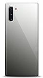 Eiroo Samsung Galaxy Note 10 Silikon Kenarlı Aynalı Siyah Kılıf