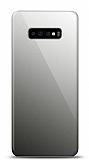 Eiroo Samsung Galaxy S10 Plus Silikon Kenarlı Aynalı Siyah Kılıf