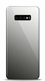 Eiroo Samsung Galaxy S10 Silikon Kenarlı Aynalı Siyah Kılıf