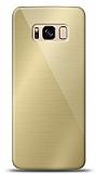 Eiroo Samsung Galaxy S8 Plus Silikon Kenarlı Aynalı Gold Kılıf