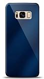 Eiroo Samsung Galaxy S8 Plus Silikon Kenarlı Aynalı Lacivert Kılıf