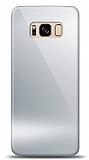Eiroo Samsung Galaxy S8 Plus Silikon Kenarlı Aynalı Silver Kılıf
