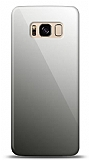 Eiroo Samsung Galaxy S8 Plus Silikon Kenarlı Aynalı Siyah Kılıf