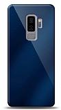 Eiroo Samsung Galaxy S9 Plus Silikon Kenarlı Aynalı Lacivert Kılıf