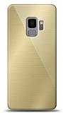 Eiroo Samsung Galaxy S9 Silikon Kenarlı Aynalı Gold Kılıf