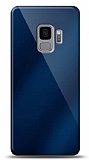 Eiroo Samsung Galaxy S9 Silikon Kenarlı Aynalı Lacivert Kılıf