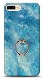 Eiroo Satin iPhone 7 Plus / 8 Plus Ocean Yüzük Tutuculu Silikon Kılıf