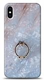 Eiroo Satin iPhone X / XS Nacreous Yüzük Tutuculu Silikon Kılıf