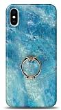 Eiroo Satin iPhone X / XS Ocean Yüzük Tutuculu Silikon Kılıf