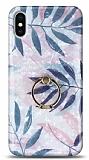 Eiroo Satin iPhone X / XS Tropical Yüzük Tutuculu Silikon Kılıf