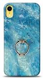 Eiroo Satin iPhone XR Ocean Yüzük Tutuculu Silikon Kılıf