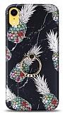 Eiroo Satin iPhone XR Pineapple Granite Yüzük Tutuculu Silikon Kılıf