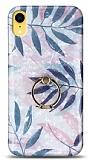 Eiroo Satin iPhone XR Tropical Yüzük Tutuculu Silikon Kılıf
