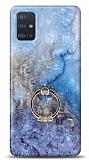 Eiroo Satin Samsung Galaxy A71 Dream Yüzük Tutuculu Silikon Kılıf