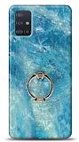 Eiroo Satin Samsung Galaxy A71 Ocean Yüzük Tutuculu Silikon Kılıf