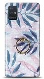 Eiroo Satin Samsung Galaxy A71 Tropical Yüzük Tutuculu Silikon Kılıf