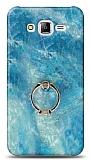 Eiroo Satin Samsung Galaxy J7 / Galaxy J7 Core Ocean Yüzük Tutuculu Silikon Kılıf