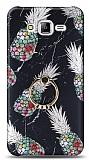 Eiroo Satin Samsung Galaxy J7 / Galaxy J7 Core Pineapple Granite Yüzük Tutuculu Silikon Kılıf