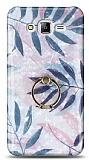 Eiroo Satin Samsung Galaxy J7 / Galaxy J7 Core Tropical Yüzük Tutuculu Silikon Kılıf