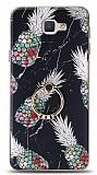 Eiroo Satin Samsung Galaxy J7 Prime / J7 Prime 2 Pineapple Granite Yüzük Tutuculu Silikon Kılıf