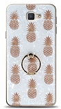 Eiroo Satin Samsung Galaxy J7 Prime / J7 Prime 2 Pineapple Yüzük Tutuculu Silikon Kılıf