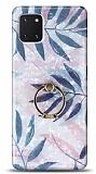 Eiroo Satin Samsung Galaxy Note 10 Lite Tropical Yüzük Tutuculu Silikon Kılıf