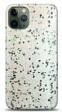 Eiroo Sparkle iPhone 11 Pro Max Işıltılı Silver Silikon Kılıf