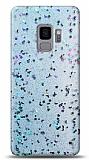 Eiroo Sparkle Samsung Galaxy S9 Işıltılı Mavi Silikon Kılıf