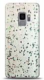 Eiroo Sparkle Samsung Galaxy S9 Işıltılı Silver Silikon Kılıf