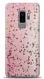 Eiroo Sparkle Samsung Galaxy S9 Plus Işıltılı Pembe Silikon Kılıf