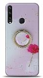 Eiroo Starry Huawei Y6p Çiçekli Silikon Kılıf