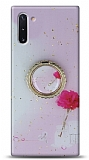 Eiroo Starry Samsung Galaxy Note 10 Çiçekli Silikon Kılıf