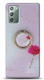 Eiroo Starry Samsung Galaxy Note 20 Çiçekli Silikon Kılıf
