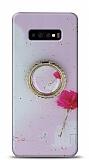 Eiroo Starry Samsung Galaxy S10 Çiçekli Silikon Kılıf