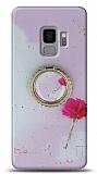 Eiroo Starry Samsung Galaxy S9 Çiçekli Silikon Kılıf