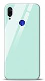 Eiroo Xiaomi Redmi Note 7 Pro Silikon Kenarlı Mavi Cam Kılıf