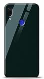 Eiroo Xiaomi Redmi Note 7 Pro Silikon Kenarlı Yeşil Cam Kılıf